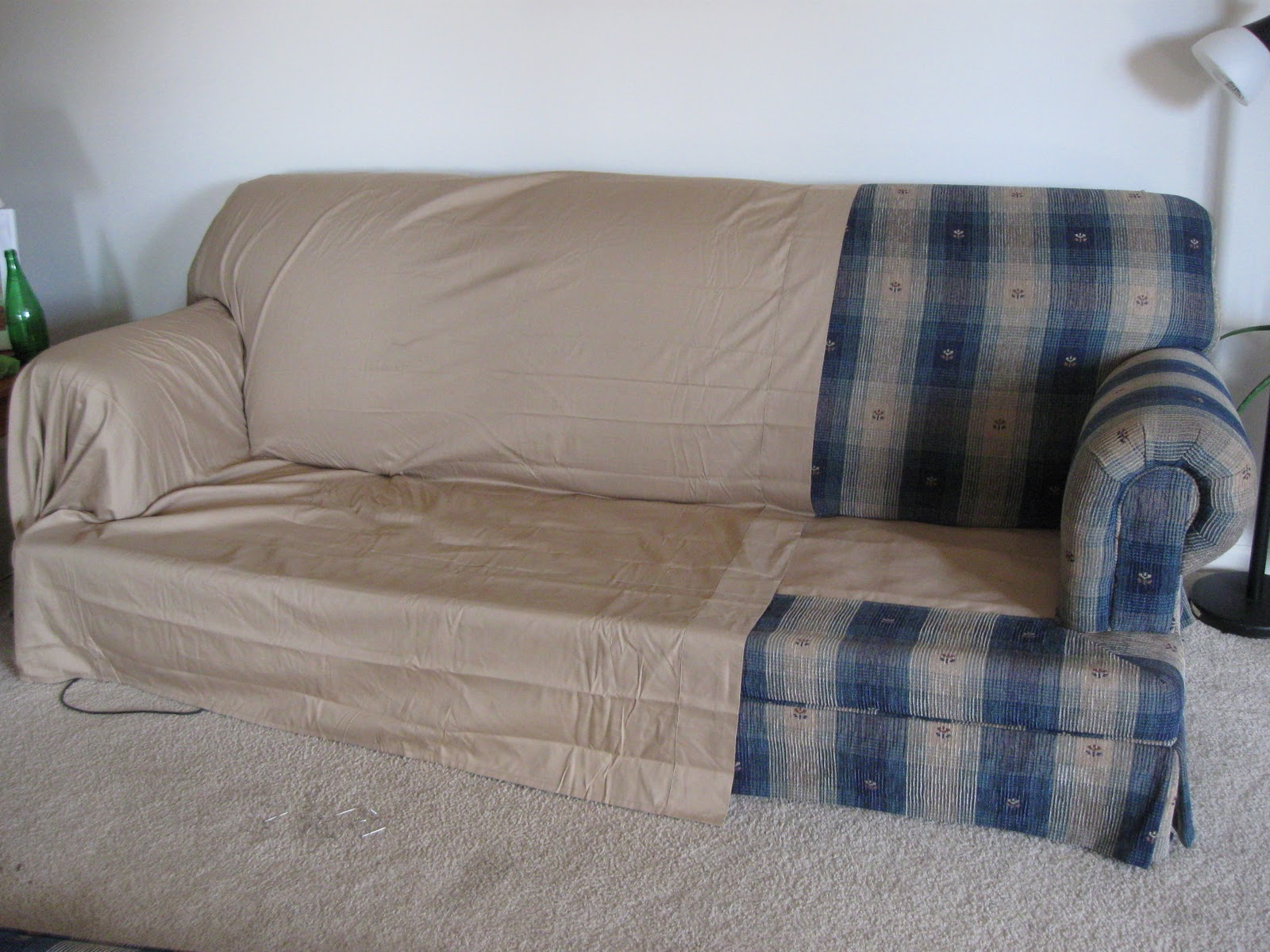 how much fabric to make a sofa cover bed ebay canada turning house into home creating beauty on budget