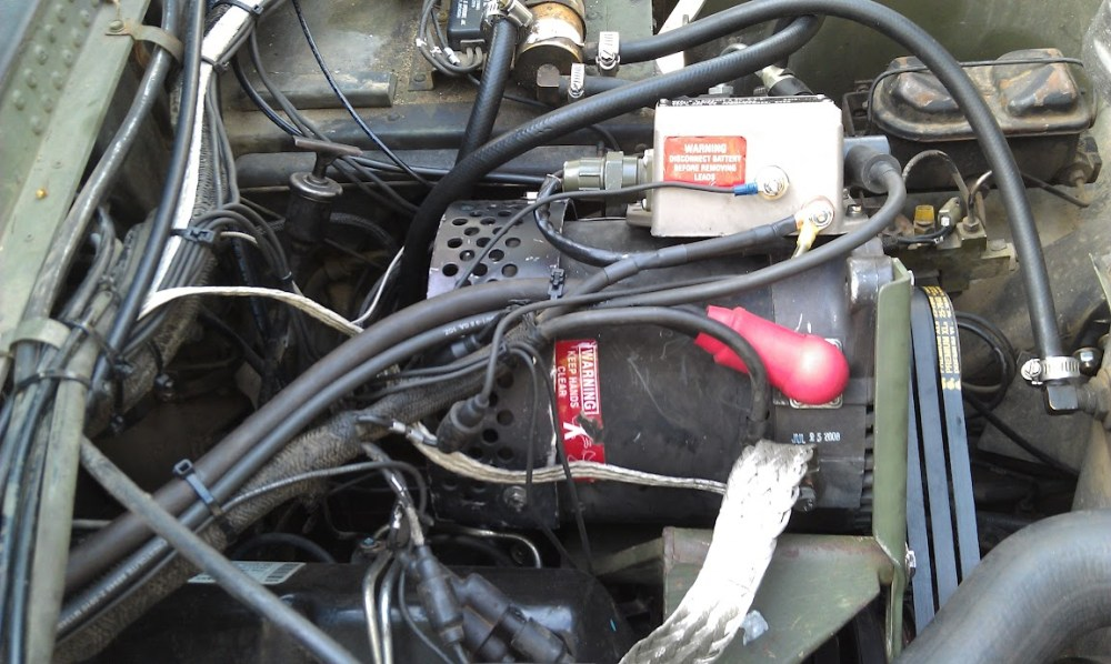 medium resolution of wiring is super easy here s the only tricky part for a0 trucks that originally had a 60a alternator you connect the 8ga wire 5a that was coming from