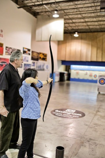 Traditional Archery Lessons with Impact Archery Las Vegas.