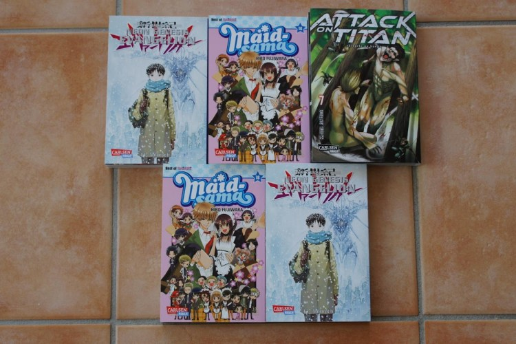 Carlsen Manga Neon Genesis Evangelion 14 Maid-sama 18 Attack on Titan 7