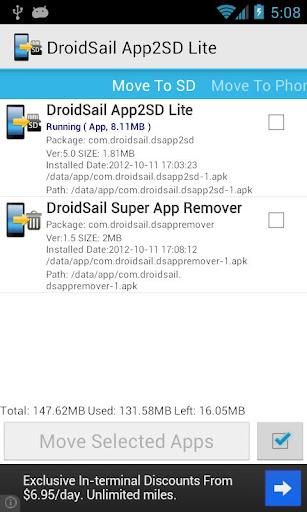 DroidSail Super App2SD Lite apk New Version