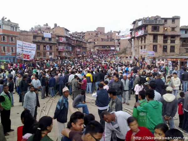 People Eagerly Waiting For Bhairav Rath