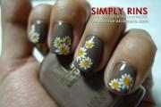 nail art daisies simply rins