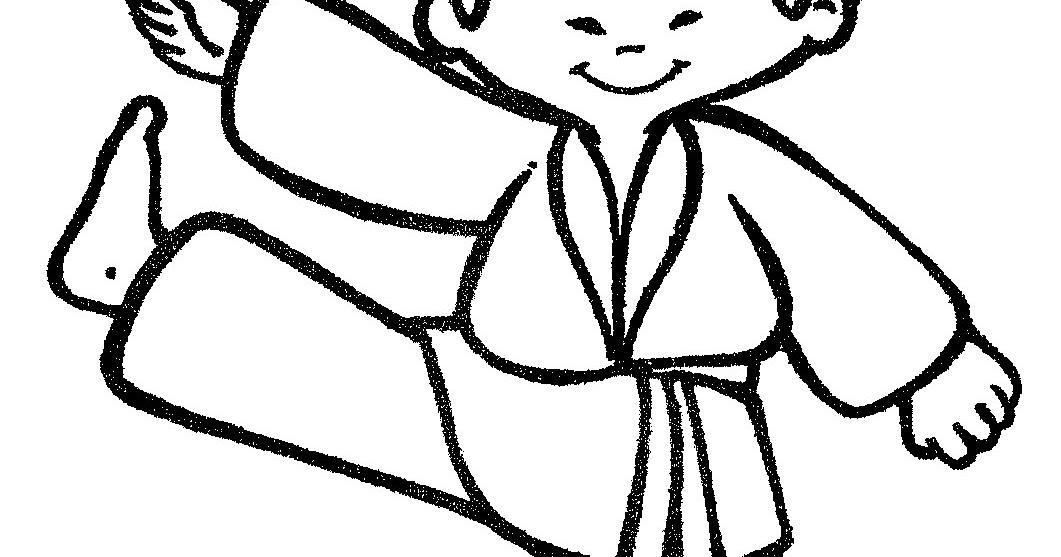 Pinto Dibujos Karate Para Colorear