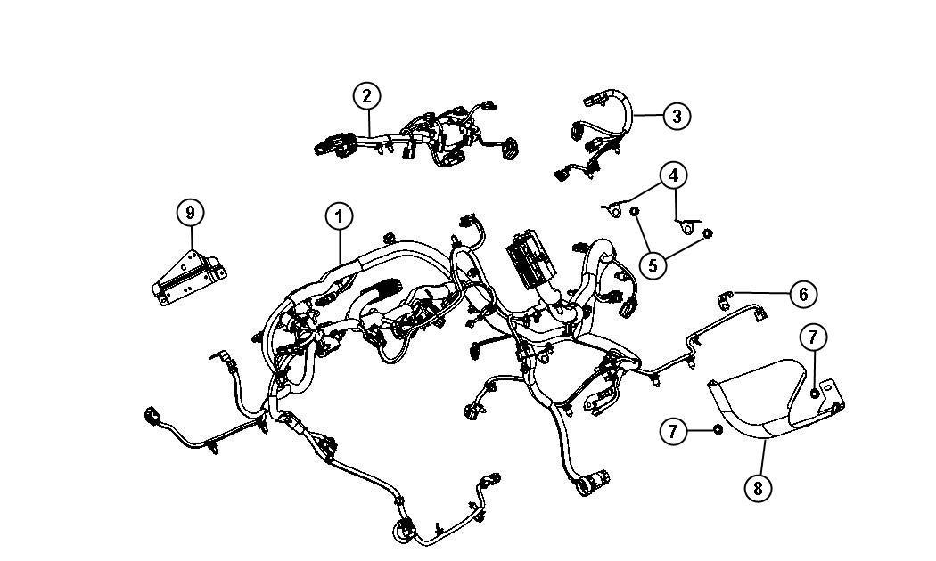 Wrangler Engine Diagram / Engine Wiring Harness Diagram On