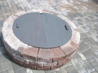 Special Discount Round Steel Fire Pit Cover / Snuffer