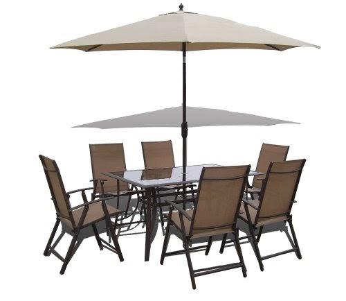 0n  8 Piece Santorini Garden and Patio Set 6 Chairs