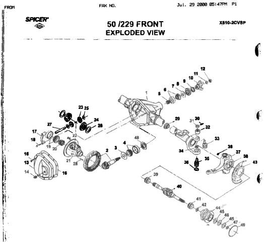 Diagram Ford F250 Front Axle