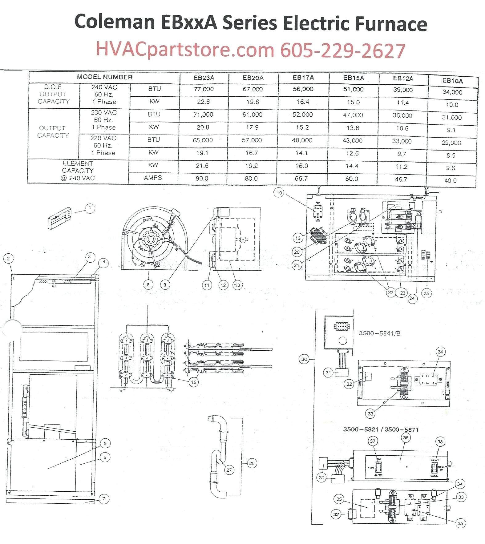 schematic coleman electric furnace wiring diagram