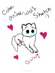 25 Best Cute Anime Wolf Drawings