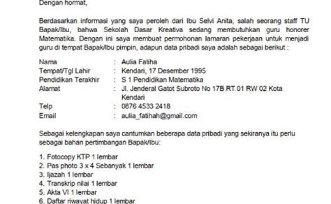 Contoh Surat Lamaran Kerja Guru Agama Kristen Kumpulan Cute766