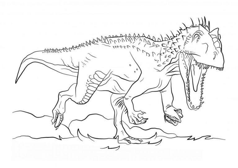 Malvorlage Dinosaurier Rex - T Rex Malvorlage  Malvorlage