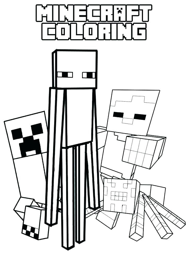 Minecraft Coloring Pages Creeper : minecraft, coloring, pages, creeper, Coloring, Pages, Minecraft, Creeper, Drawing, Crayons
