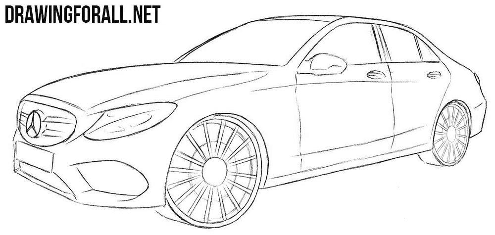 Mercedes Benz C Class Drawing