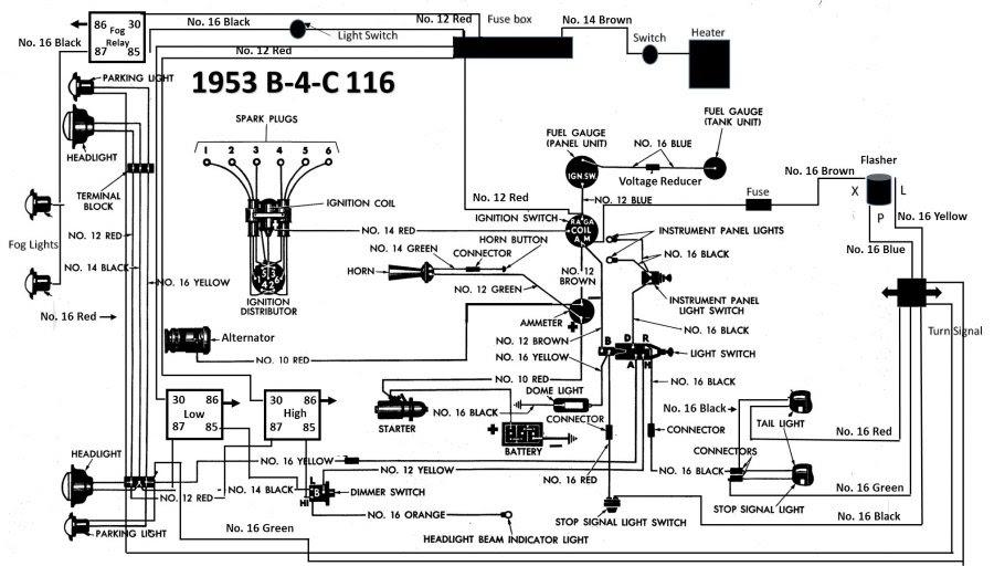 Wiring Diagram PDF: 12 Volt Conversion Wiring Diagram 1951