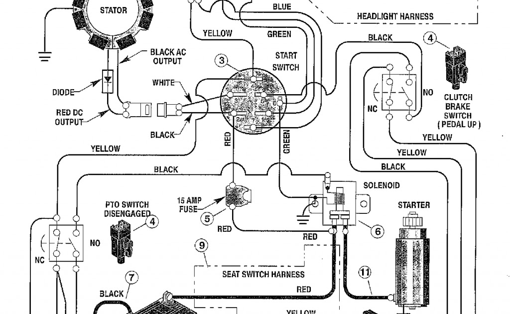 Wiring Diagram For Murray Riding Lawn Mower : 1 2 Hp