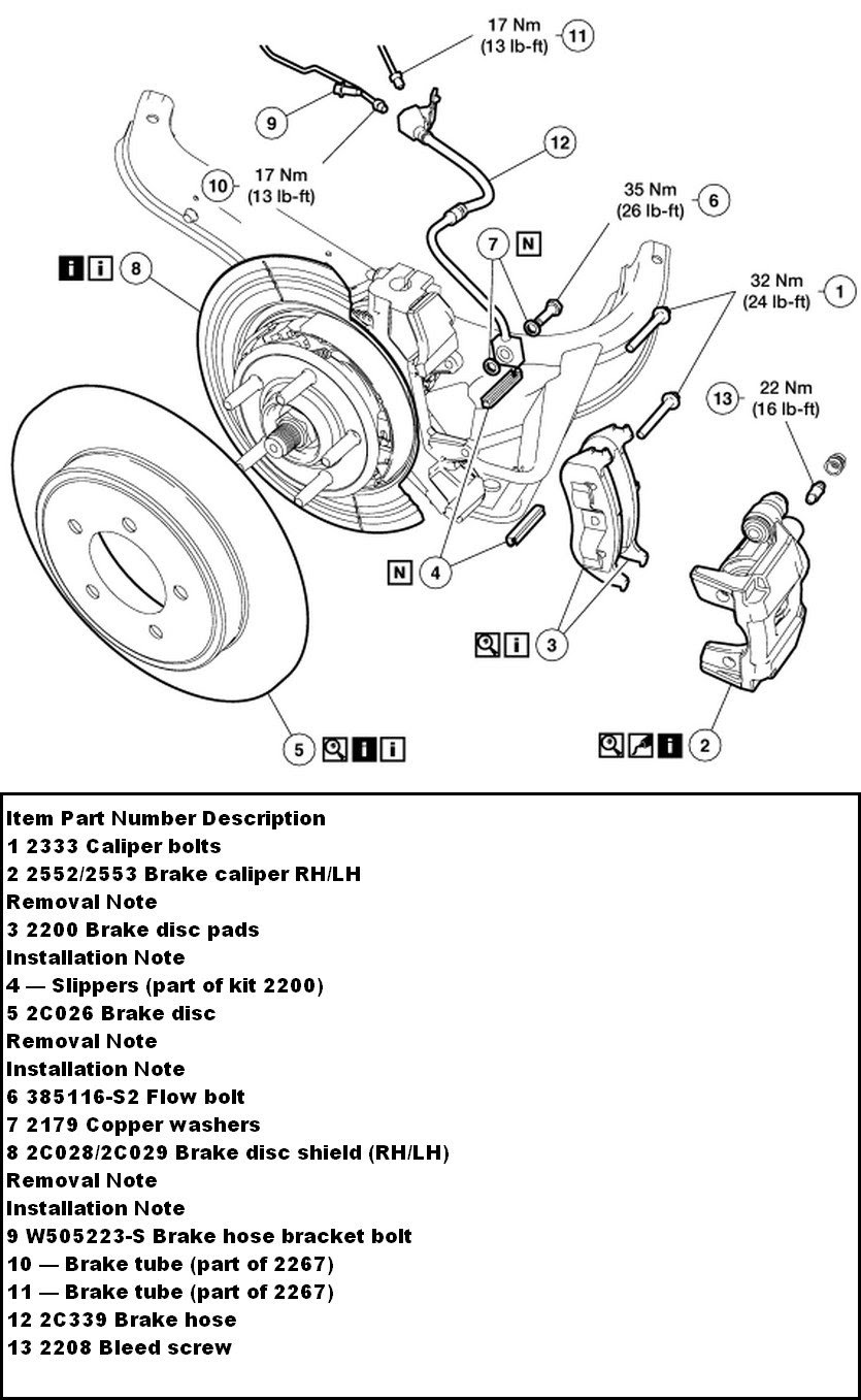 Encontrá manual: Ford explorer brake diagram