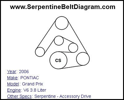 30 2005 Pontiac Grand Prix Serpentine Belt Diagram