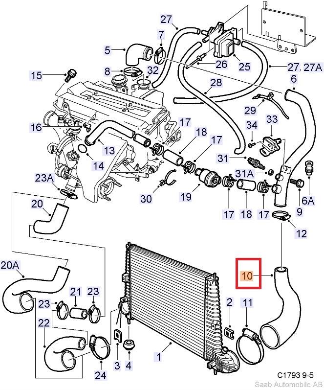 1999 Saab 9 5 Engine Diagram