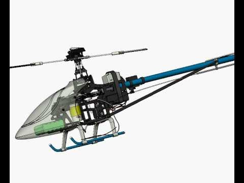 3D Model Of Remote Control Helicopter Animation Camera 360