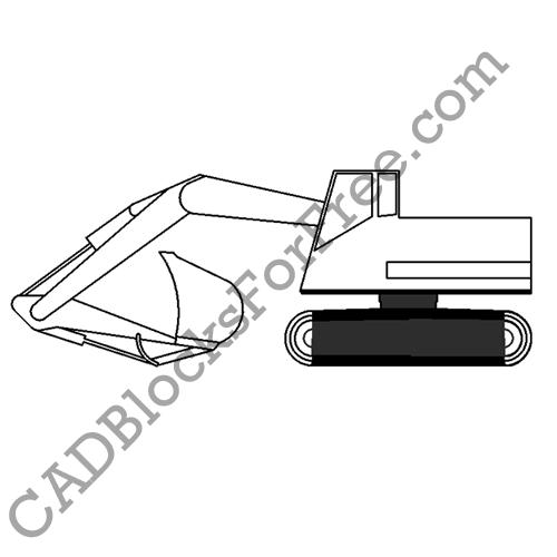 dwg excavator bucket CAD Free Blocks For Excavator Tracked