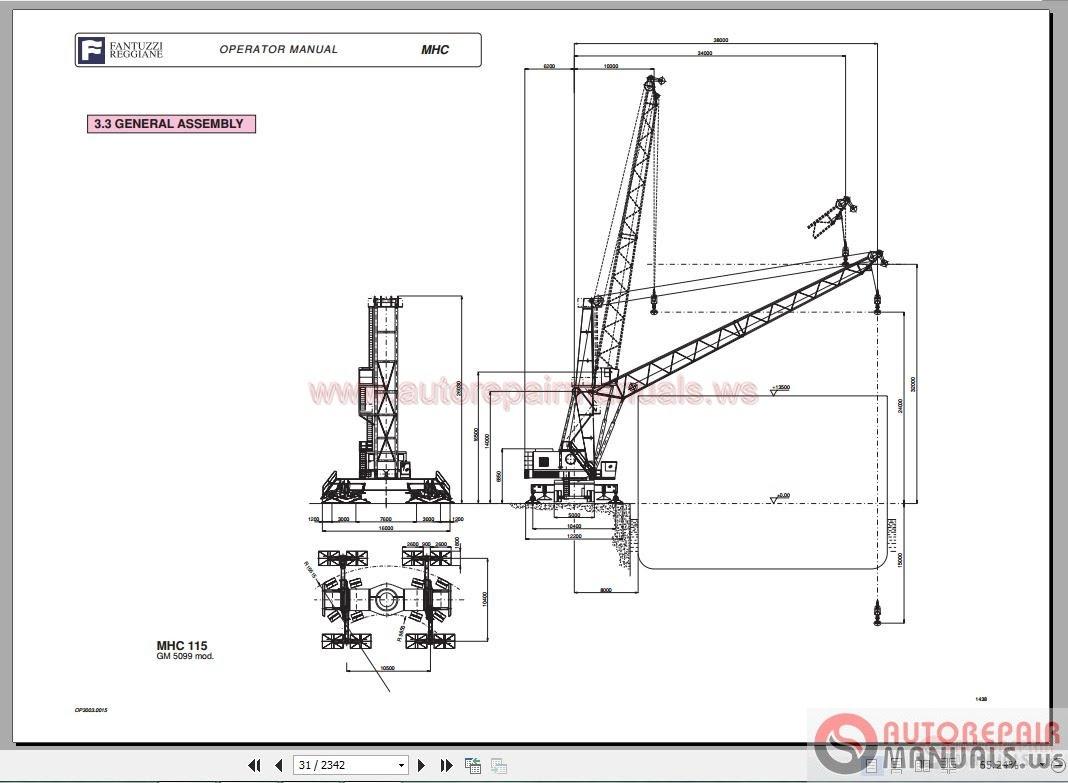 Auto Repair Manuals: Fantuzzi Harbnour Cranes Operator