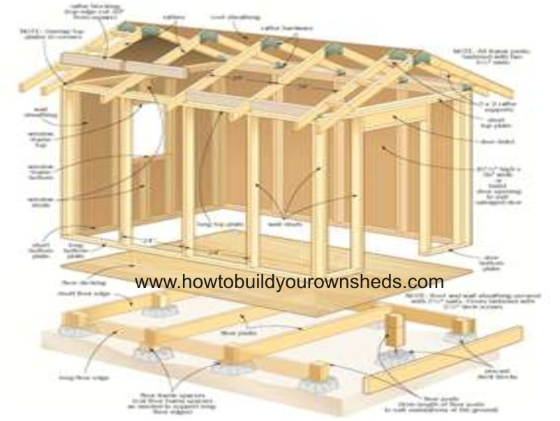 10x8 Lean To Shed Plans Free Shed Plans 8x8 Online