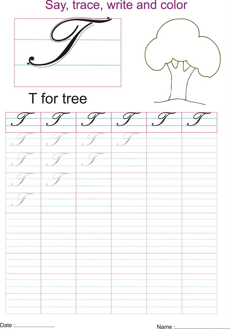 What Does A Capital T Look Like In Cursive : capital, cursive, Cursive, Capital, Letter