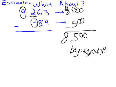 Mr. O'Brien's 4th Grade Blog: Estimating Adding and
