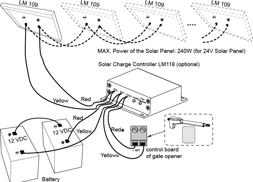Solar Panel Charge Controller Wiring Diagram : Solar