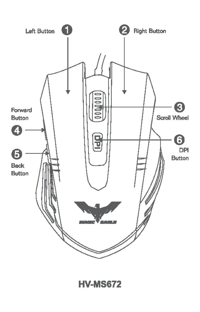 Gaming Mouse Drawing