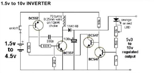 IA audio: Skema Inverter DC ke DC (1,5