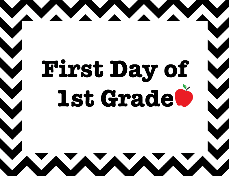 First Day Of School: First Day Of School Grade Signs