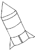 Coloring Sheets for Kids: Rocket Ship Coloring Page