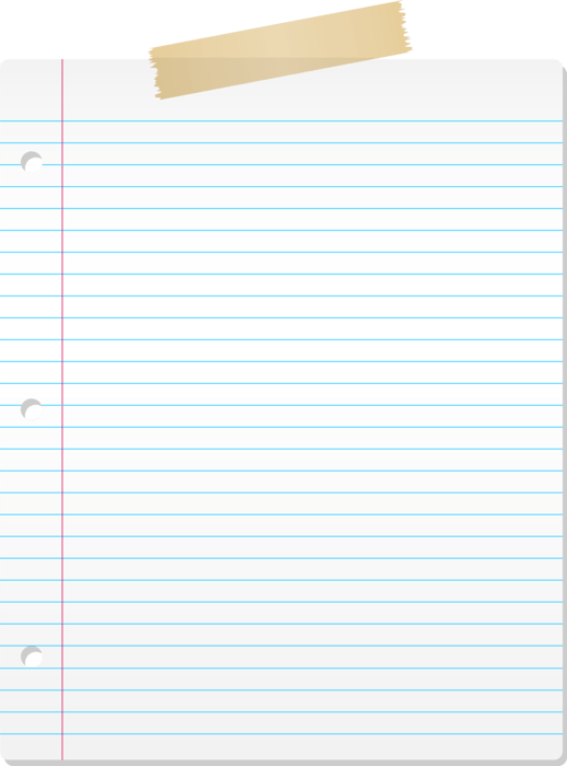 Lined Paper Transparent : lined, paper, transparent, Download, Lined, Paper