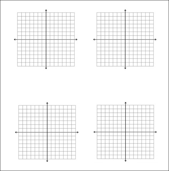 52 FREE PRINTABLE GRAPH PAPER MULTIPLE GRAPHS PER PAGE