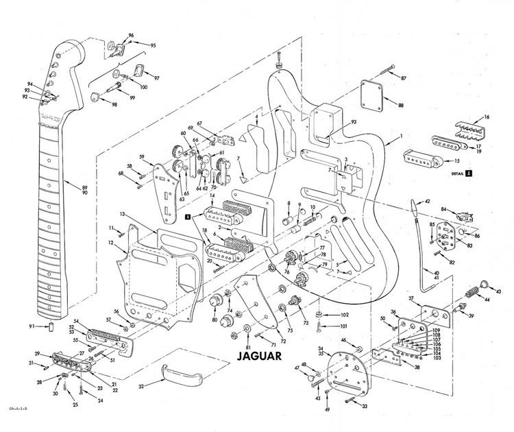Guitar Blog: Fender Jaguar building diagram