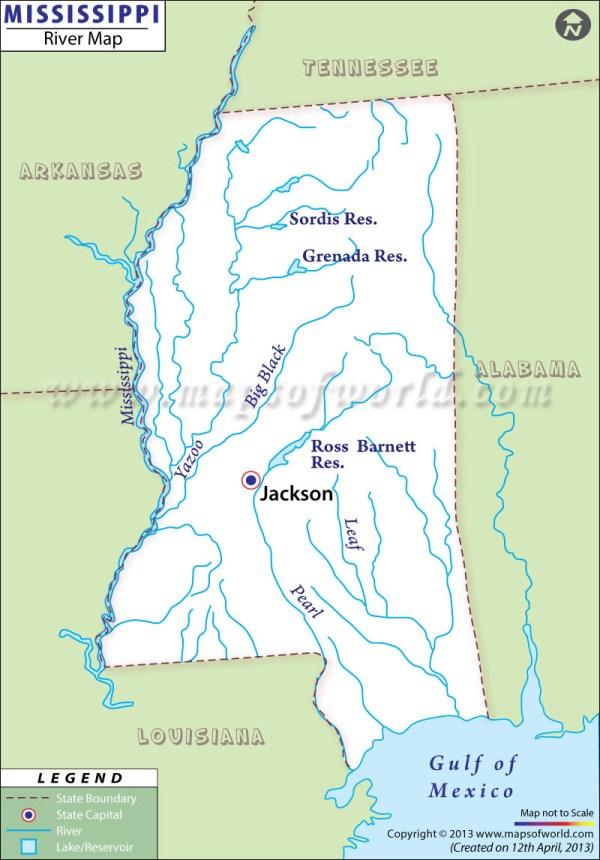 Maps Usa Map Mississippi River