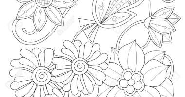 Malvorlage Blumen Ornamente   Ausmalbilder