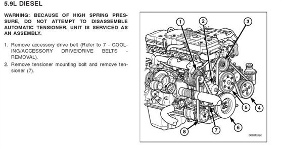 Wiring Diagram Database: Cummins Isx Serpentine Belt Diagram