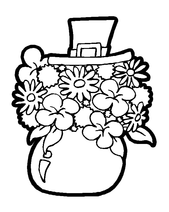 Fashion Pure: coloring pages of flowers in a vase