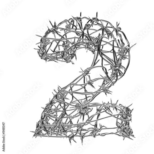 redesse: barbed wire font