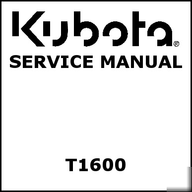 Locations de vehicule, voitures: Kubota t1600 manual