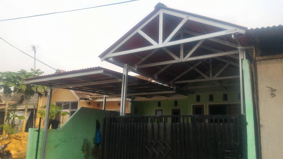 kanopi baja ringan model segitiga 23 atap cluster info top