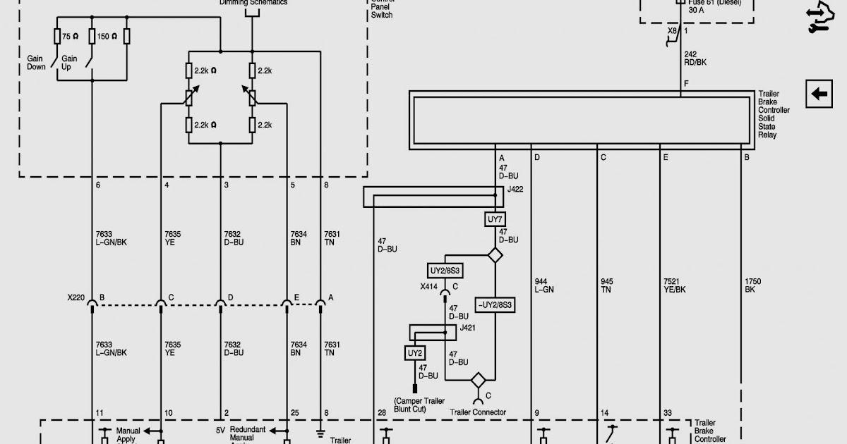 Chevy Trailer Wiring Harness Diagram / 7 Way Diagram Aj S