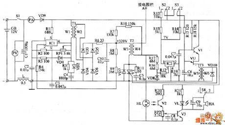 ELECTRIC FENCE: ELECTRIC FENCE ENERGIZER CIRCUIT DIAGRAM