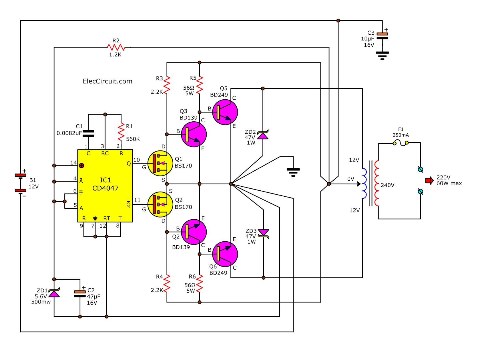 inverter using igbt circuit diagram