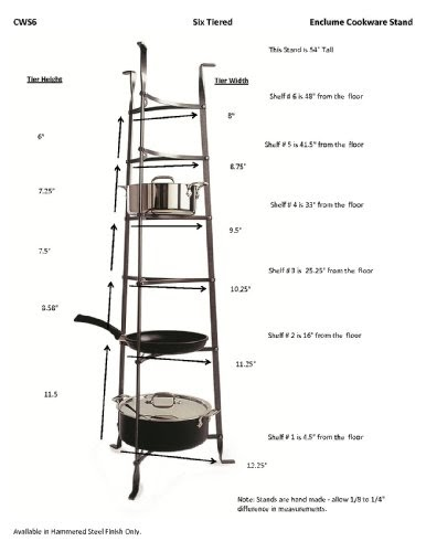 Storage: Enclume CWS6 6-Tier Cookware Stand, Hammered