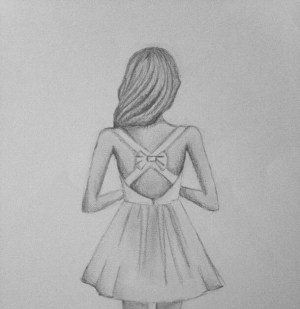 girly easy drawings straight drawing creative