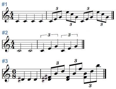 逍遙仙境: 兩拍的三連音。 Quarter-note Triplet
